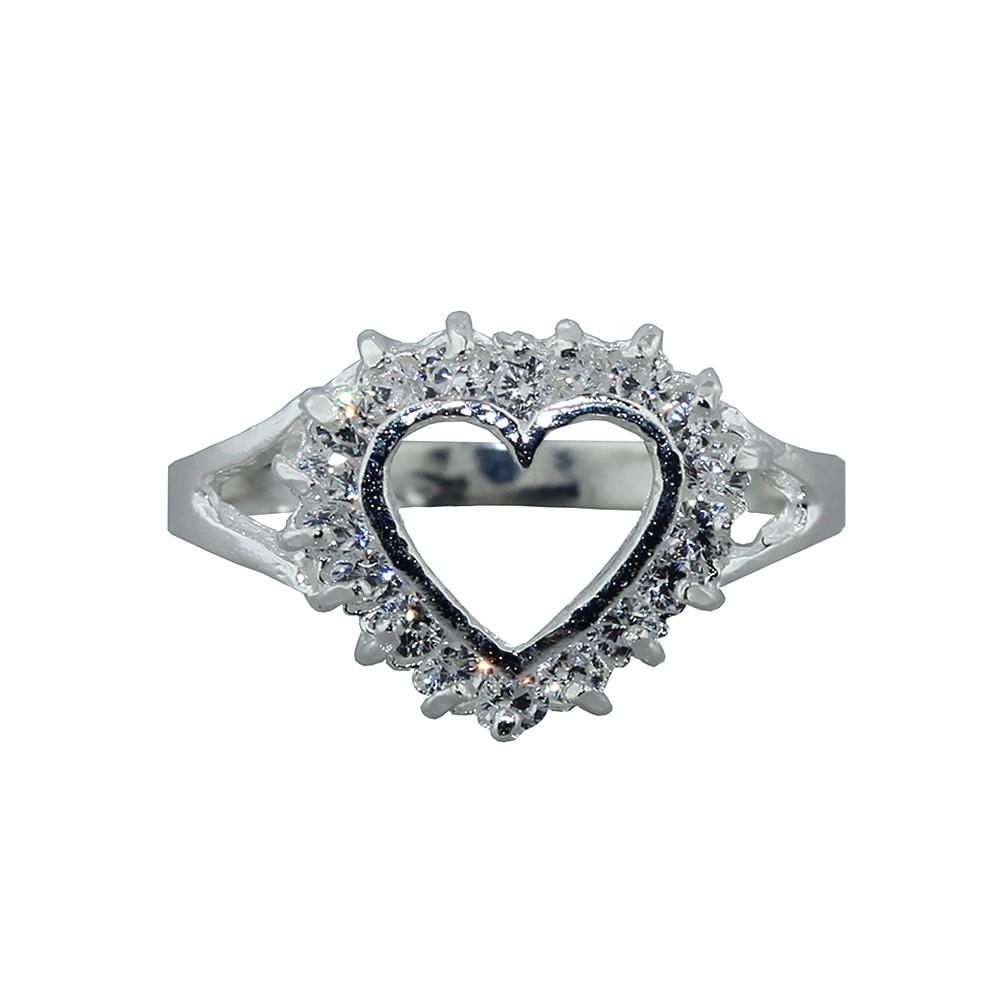 ffe0156f640b Anillo de plata con forma de corazon Mod. 523