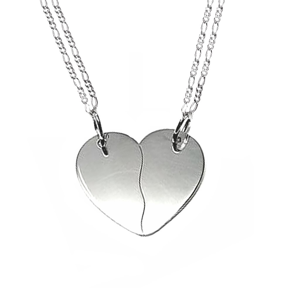 a4ef579c069e Collar corazón partido plata 925.