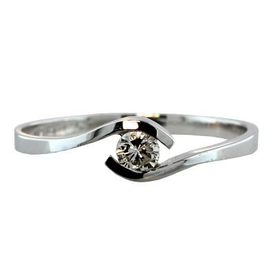 Solitario Diamante Oro 14 K Love I