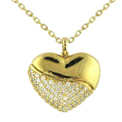 COLLAR CORAZON 10 K ANGELINA.